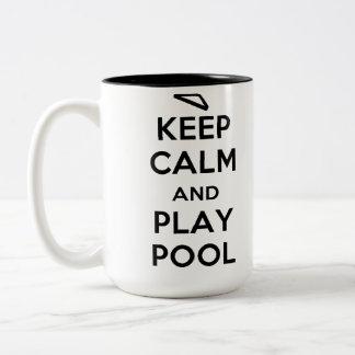 Keep Calm and Play Pool Coffee Mug