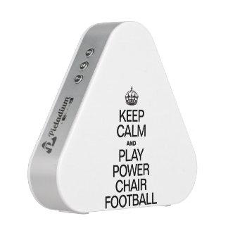 KEEP CALM AND PLAY POWER CHAIR FOOTBALL