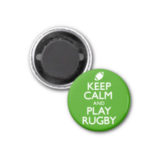 Keep Calm and Play Rugby (Carry On) 3 Cm Round Magnet