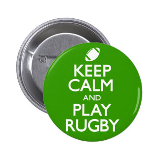 Keep Calm and Play Rugby (Carry On) 6 Cm Round Badge