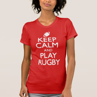Keep Calm and Play Rugby (Carry On) T-Shirt