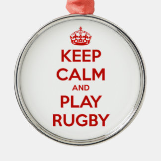 Keep Calm And Play Rugby Christmas Ornament