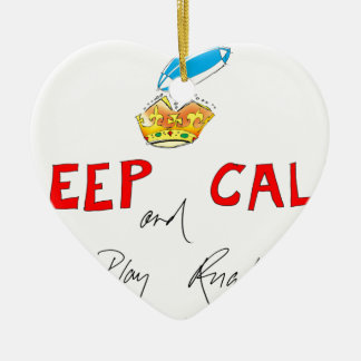 keep calm and play rugby, tony fernandes ceramic heart decoration