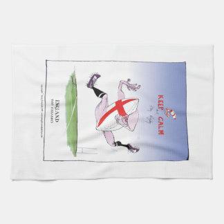 keep calm and play rugby, tony fernandes tea towel