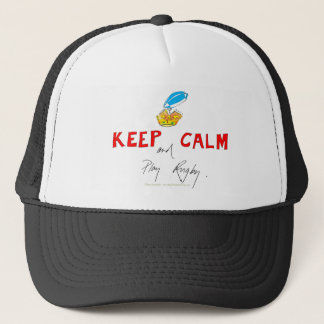 keep calm and play rugby, tony fernandes trucker hat