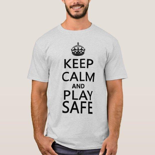 Keep Calm and Play Safe Snooker T-shirt