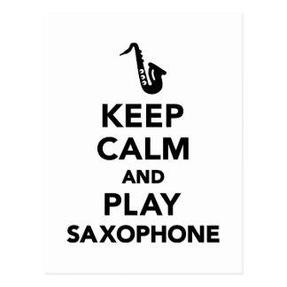 Keep calm and Play Saxophone Postcards