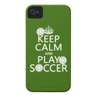Keep Calm and Play Soccer (any color) iPhone 4 Cover