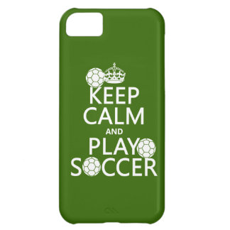 Keep Calm and Play Soccer (any color) iPhone 5C Case
