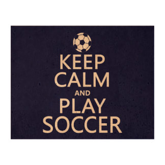 Keep Calm and Play Soccer (any color) Cork Paper Prints