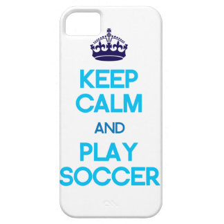 Keep Calm And Play Soccer (Blue) Case For The iPhone 5