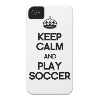 Keep Calm And Play Soccer iPhone 4 Cover