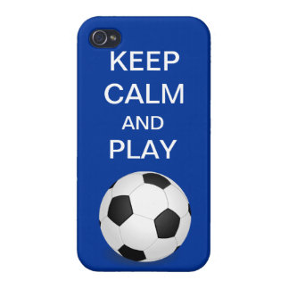 Keep Calm and Play Soccer iPhone 4 iPhone 4 Cover