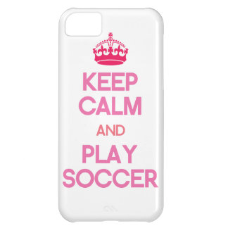 Keep Calm And Play Soccer (Pink) iPhone 5C Case