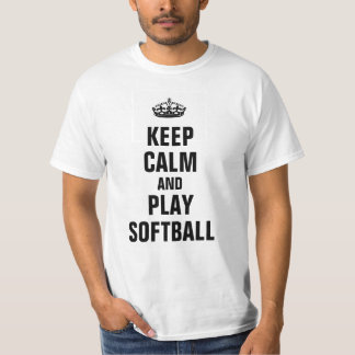 Keep calm and play Softball T-Shirt