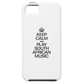 KEEP CALM AND PLAY SOUTH AFRICAN MUSIC iPhone 5 COVER