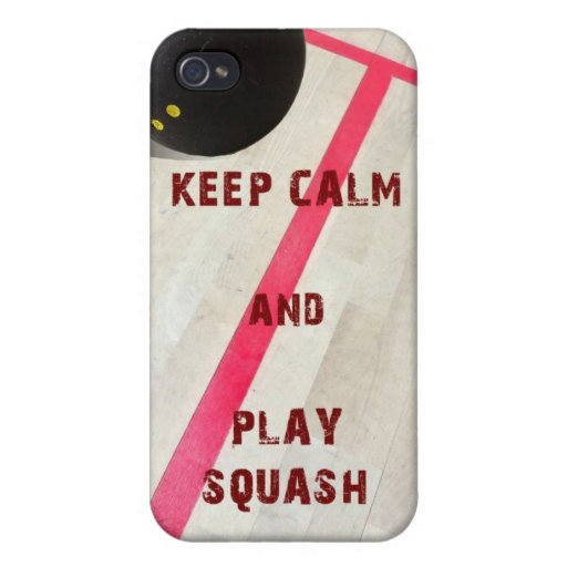 Keep Calm and Play Squash Case For iPhone 4