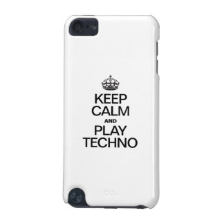 KEEP CALM AND PLAY TECHNO iPod TOUCH (5TH GENERATION) COVER