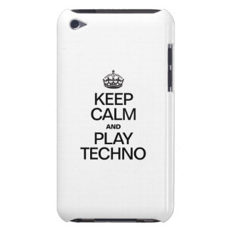 KEEP CALM AND PLAY TECHNO BARELY THERE iPod CASE