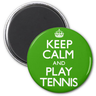 Keep Calm and Play Tennis (Carry On) 6 Cm Round Magnet
