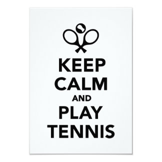 Keep calm and play Tennis Personalized Announcement