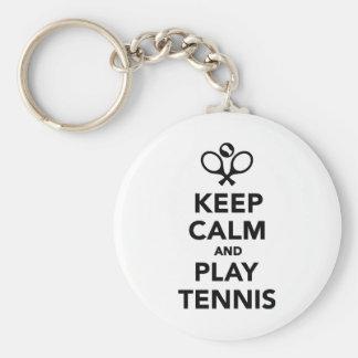 Keep calm and play Tennis Keychains