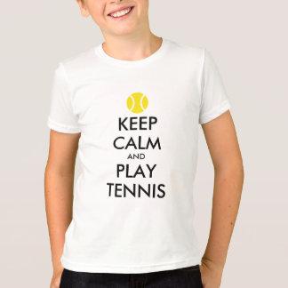 Keep calm and play tennis kids shirt
