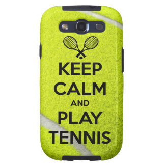 Keep calm and play tennis sport ball racket sports samsung galaxy SIII cases