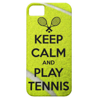 Keep calm and play tennis sport ball racket sports iPhone 5 cases