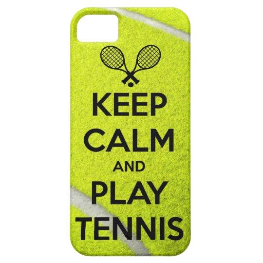 Keep calm and play tennis sport ball racket