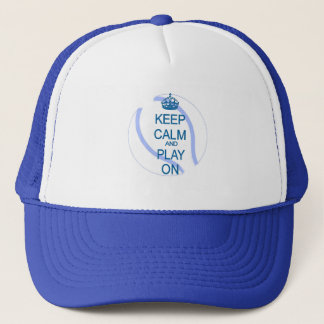 Keep calm and play tennis trucker hat