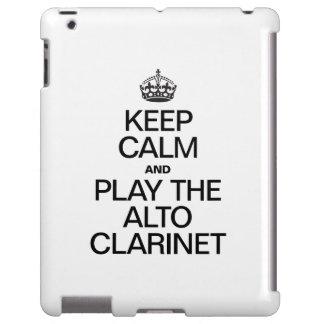 KEEP CALM AND PLAY THE ALTO CLARINET iPad CASE