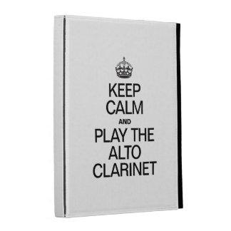 KEEP CALM AND PLAY THE ALTO CLARINET iPad FOLIO CASES