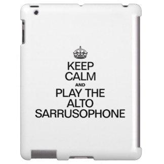 KEEP CALM AND PLAY THE ALTO SARRUSOPHONE iPad CASE
