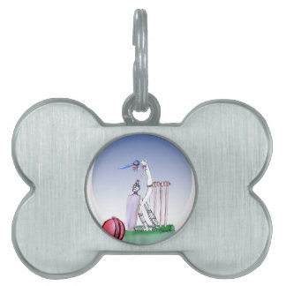 keep calm and play the ball, tony fernandes pet ID tag