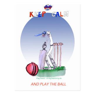 keep calm and play the ball, tony fernandes postcard