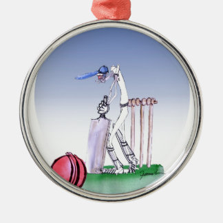 keep calm and play the ball, tony fernandes Silver-Colored round decoration