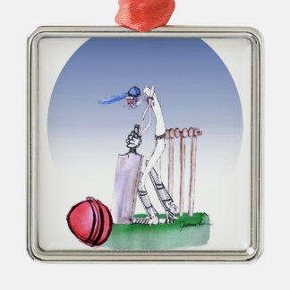 keep calm and play the ball, tony fernandes Silver-Colored square decoration