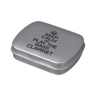 KEEP CALM AND PLAY THE BASS CLARINET CANDY TIN