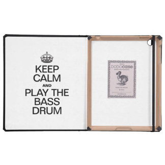 KEEP CALM AND PLAY THE BASS DRUM iPad COVER