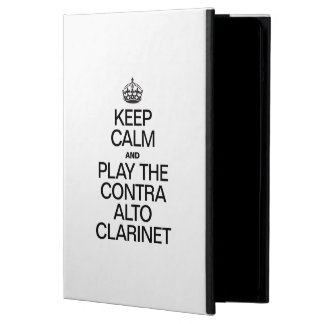 KEEP CALM AND PLAY THE CONTRA ALTO CLARINET iPad AIR COVER