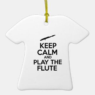 Keep Calm And Play The Flute Ornament