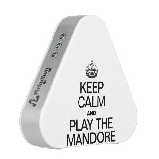 KEEP CALM AND PLAY THE MANDORE BLUETOOTH SPEAKER