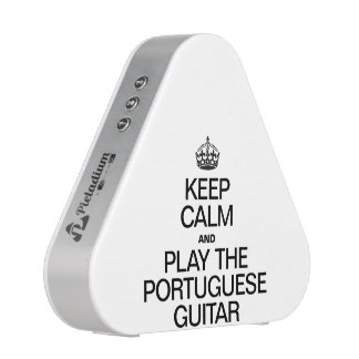 KEEP CALM AND PLAY THE PORTUGUESE GUITAR BLUETOOTH SPEAKER