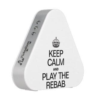 KEEP CALM AND PLAY THE REBAB.ai Bluetooth Speaker