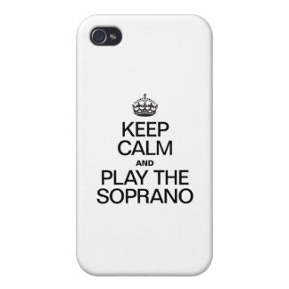 KEEP CALM AND PLAY THE SOPRANO CASE FOR THE iPhone 4