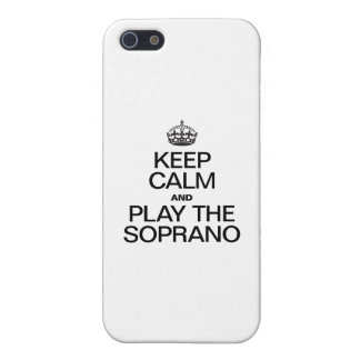 KEEP CALM AND PLAY THE SOPRANO iPhone 5 CASE