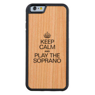 KEEP CALM AND PLAY THE SOPRANO CHERRY iPhone 6 BUMPER CASE