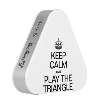 KEEP CALM AND PLAY THE TRIANGLE SPEAKER