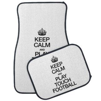 KEEP CALM AND PLAY TOUCH FOOTBALL FLOOR MAT